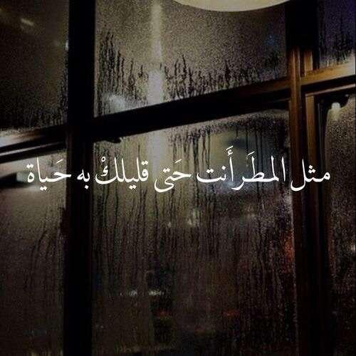 مثل المطر أنت حتي قلبك به حياة
