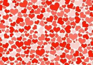 خلفيات حب قلوب حمراء
