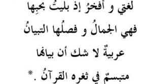 حكم عن اللغة العربية