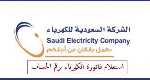 استعلام فاتورة الكهرباء