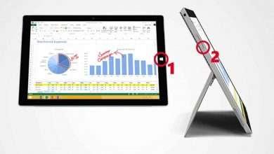 طريقة أخذ لقطة شاشة على Microsoft Surface pro 3
